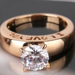 Jewelry - I LOVE YOU Gold Plated Solitaire Ring